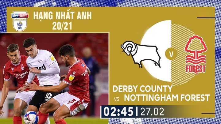 ⚽️ Derby County vs Nottingham Forest