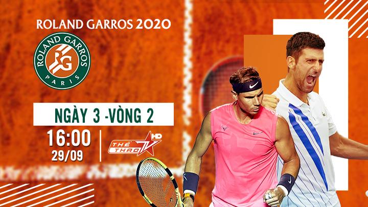 Tennis: Roland Garros Ngày 2
