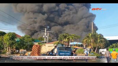 Bình Dương: Cháy Công Ty Xử Lý Môi Trường
