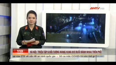 Hà Nội: Triệu Tập 6 Đối Tượng Cầm Hung Khí Đánh Nhau Trên Phố