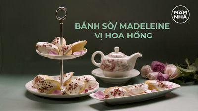 Cách Làm Bánh Madeline Sò Vị Hoa Hồng