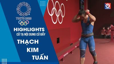 Cử tạ - Thạch Kim Tuấn thất bại ở hạng cân 61kg