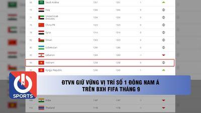 ĐTVN giữ vững vị trí số 1 Đông Nam Á trên BXH FIFA tháng 9