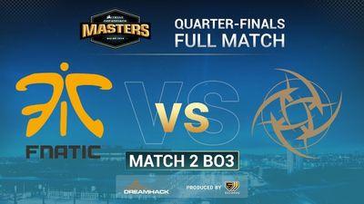 Full match NiP vs Fnatic | Map 1 Playoffs | DreamHack Masters Malmo 2019