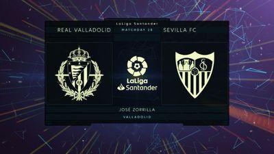 Highlights   Real Valladolid - Sevilla   Vòng 28 La Liga 2020/21