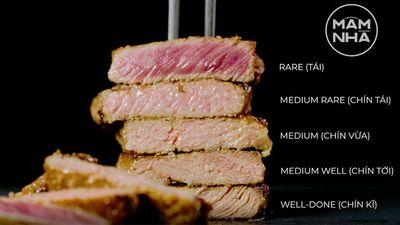 Bò Bít Tết 5 Độ Chín Đúng Chuẩn Chef
