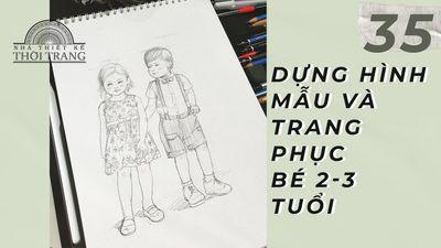 Dựng Hình Và Phom Dáng Trang Phục Các Bé 2-3 Tuổi