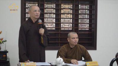TT-Huế: Thảo Luận Về Nhân Sự Phật Giáo Cấp Huyện Nhiệm Kỳ Mới