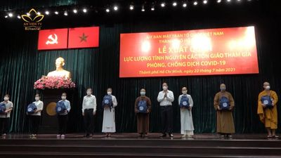 TP.HCM: Tăng Ni, Phật Tử Xuất Quản Phòng, Chống Covid -19